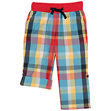 Buy Frugi Check Print Roll Hem Trousers, Multi Online at johnlewis.com