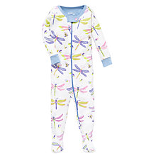 Buy Hatley Baby Dragonfly Zip Sleepsuit, Cream Online at johnlewis.com