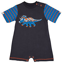 Buy Hatley Baby Short Sleeve Dinosaur Romper, Navy Online at johnlewis.com