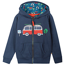 Buy Frugi Boys' Camper Van Zip Hoodie, Navy Online at johnlewis.com