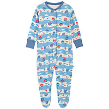 Buy Frugi Baby Lovely Seaside Babygrow, Blue Online at johnlewis.com