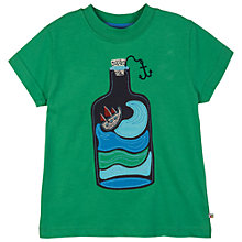 Buy Frugi Boys' Storm Bottle Applique T-Shirt, Green Online at johnlewis.com