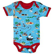 Buy Hatley Baby Pirate Ship Bodysuit, Blue/Multi Online at johnlewis.com