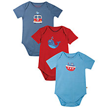 Buy Frugi Baby Super Special Bodysuit, Pack of 3, Multi Online at johnlewis.com