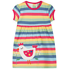 Buy Frugi Baby Ruby Stripe Chick Dress, Multi Online at johnlewis.com