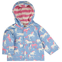 Buy Hatley Baby Horse Print Waterproof Raincoat, Blue/Multi Online at johnlewis.com
