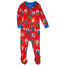 Buy Hatley Baby Robot Print Sleepsuit, Red/Multi Online at johnlewis.com