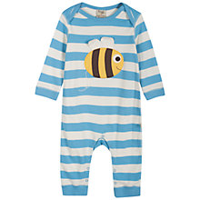 Buy Frugi Charlie Bee Stripe Romper, Blue/White Online at johnlewis.com