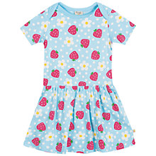 Buy Frugi Aria Strawberry Print Dress, Blue Online at johnlewis.com