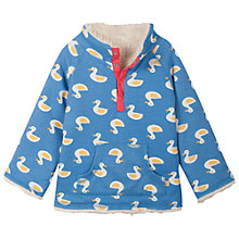 Buy Frugi Duck Print Reversible Snuggle Fleece, Blue Online at johnlewis.com