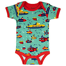Buy Hatley Baby Submarine Bodysuit, Green/Multi Online at johnlewis.com
