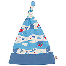 Buy Frugi Baby Lovely Seaside Knot Hat, Blue Online at johnlewis.com