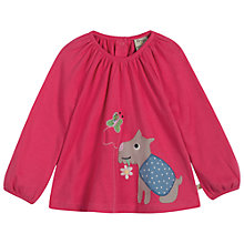 Buy Frugi Baby Ella Dog Long Sleeve Top, Pink Online at johnlewis.com