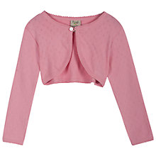 Buy Frugi Baby Pointelle Cardigan, Pink Online at johnlewis.com