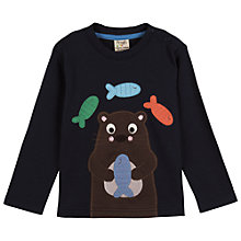 Buy Frugi Baby Discovery Otter Long Sleeve Top, Navy Online at johnlewis.com