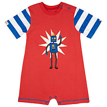 Buy Hatley Baby Short Sleeve Robot Romper, Red/Blue Online at johnlewis.com