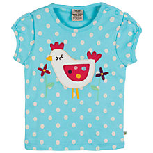 Buy Frugi Baby Evie Chick Short Sleeve Top, Blue Online at johnlewis.com