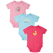 Buy Frugi Nature Bodysuit, Pack of 3, Multi Online at johnlewis.com