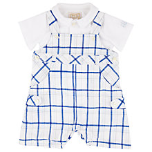 Buy Emile et Rose Edgar Baby Dungarees Outfit, Blue/White Online at johnlewis.com
