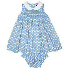 Buy Question Everything Baby's Anna Cat Dress, Blue Online at johnlewis.com