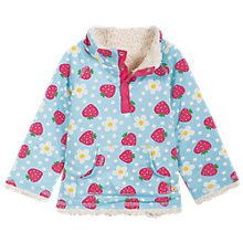 Buy Frugi Baby Strawberry Reversible Fleece Jumper, Blue Online at johnlewis.com