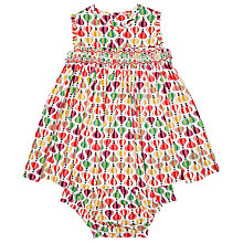 Buy Question Everything Baby's Suki Balloon Dress, White/Multi Online at johnlewis.com