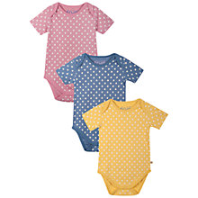 Buy Frugi Baby Spot Bodysuits, Pack of 3, Multi Online at johnlewis.com
