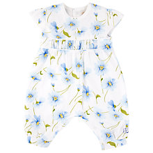 Buy Emile et Rose Baby Etta Floral Playsuit, White/Blue Online at johnlewis.com
