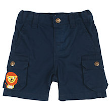 Buy Frugi Baby Explorer Shorts, Navy Online at johnlewis.com