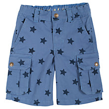 Buy Frugi Explorer Star Shorts, Blue Online at johnlewis.com