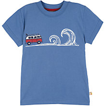 Buy Frugi Boy's Great Outdoors Print T-Shirt, Blue Online at johnlewis.com