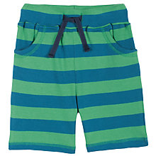 Buy Frugi Stripe Snake Pocket Shorts, Green/Blue Online at johnlewis.com