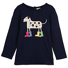 Buy Frugi Girls' Lottie Dalmatian Long Sleeve Top, Navy Online at johnlewis.com