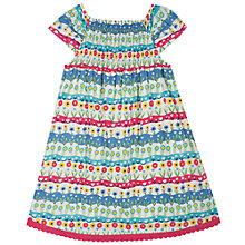 Buy Frugi Girls' Smock Floral Print Dress, Cream/Multi Online at johnlewis.com