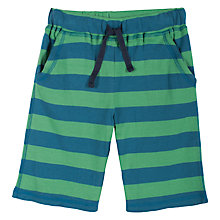 Buy Frugi Boy's Stripy Shorts, Green/Blue Online at johnlewis.com