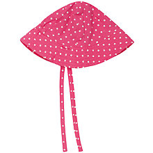 Buy Frugi Girls' Spot & Floral Print Reversible Sun Hat, Pink/Multi Online at johnlewis.com