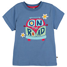 Buy Frugi Girls' Anya 'On The Road' T-Shirt, Blue Online at johnlewis.com