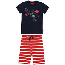 Buy Frugi Children's Scorpion Pyjamas, Navy/Red Online at johnlewis.com