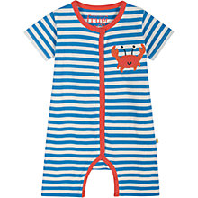 Buy Frugi Baby Rockpool Crab Romper, Blue/Cream Online at johnlewis.com