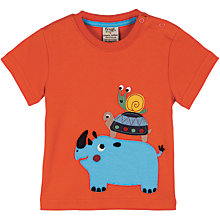 Buy Frugi Rhino Motif T-Shirt, Orange Online at johnlewis.com