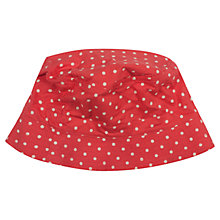 Buy Frugi Dolcie Spotty Hat, Red Online at johnlewis.com