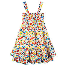 Buy Frugi Children's Lovely Layered Skirt Dress, Cream/Multi Online at johnlewis.com