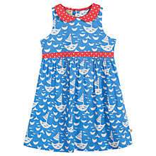 Buy Frugi Children's Polly Boat Dress, Blue/Cream Online at johnlewis.com