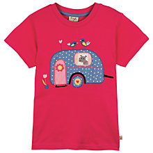 Buy Frugi Girls' Alice Caravan T-Shirt, Pink Online at johnlewis.com