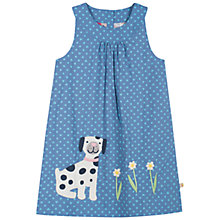 Buy Frugi Girls' Ada Dog Print Reversible Dress, Blue Online at johnlewis.com