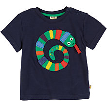 Buy Frugi Ollie Snake Motif T-Shirt, Navy Online at johnlewis.com