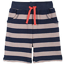 Buy Frugi Stripe Tortoise Pocket Shorts, Navy/Grey Online at johnlewis.com