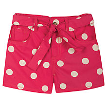Buy Frugi Martha Spotty Shorts, Pink/Cream Online at johnlewis.com