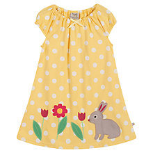 Buy Frugi Baby Lola Spot Rabbit Dress, Yellow Online at johnlewis.com
