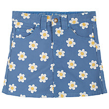 Buy Frugi Girls' Anna Daisy Skirt, Blue Online at johnlewis.com